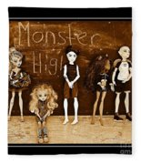 Sarah's Monster High Collection Sepia Fleece Blanket
