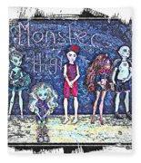 Sarah's Monster High Collection Sketch Fleece Blanket