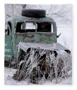 Saranac Cities Service Truck Fleece Blanket