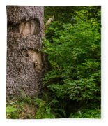 Sasquatch Rubbing Tree Fleece Blanket