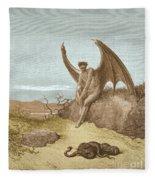 Satan Finding Serpent, By Dore Fleece Blanket