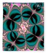 Satin Flowers And Butterflies Fractal 122 Fleece Blanket