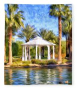 Saturday In The Park Fleece Blanket