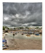 Saundersfoot Harbour Fleece Blanket