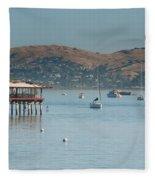 Sausalito Harbour Fleece Blanket