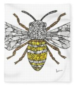 Save The Bees Fleece Blanket