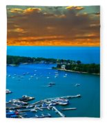 S.bass Is. Lake Erie Fleece Blanket