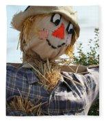 Scarecrow Farmer Fleece Blanket