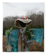 Scarecrow Garden Art Fleece Blanket