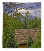Scene Through The Trees - Vail Fleece Blanket