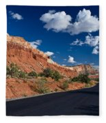 Scenic Drive Through Capitol Reef National Park Fleece Blanket