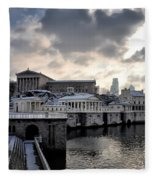 Scenic Philadelphia Winter Fleece Blanket