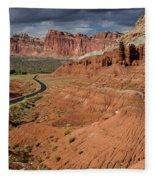 Scenic Road 1 Fleece Blanket