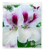 Scented Geraniums 2 Fleece Blanket