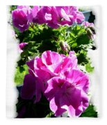 Scented Geraniums Fleece Blanket