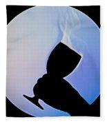 Schlieren Image Of Wine Vapors Fleece Blanket