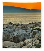 Schoodic Sunset Fleece Blanket