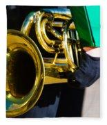 School Band Horn Fleece Blanket