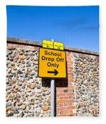 School Parking Sign Fleece Blanket