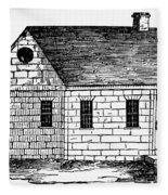 Schoolhouse, 18th Century Fleece Blanket