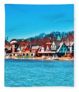 Schuylkill Navy Boat House Row Fleece Blanket