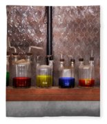 Science - Chemist - Glassware For Couples Fleece Blanket