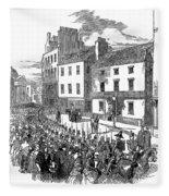 Scotland: Perth, 1848 Fleece Blanket