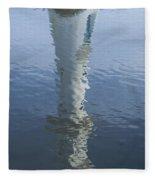 Scott Memorial Lighthouse Reflection Fleece Blanket