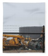 Scrapyard Machinery Fleece Blanket