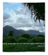 Scripture And Picture Psalm 121 1 Fleece Blanket