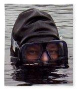 Scuba Diver  Fleece Blanket