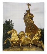 Sculpture Of Columbia Triumphant  Fleece Blanket