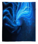 Sea At Night Fleece Blanket