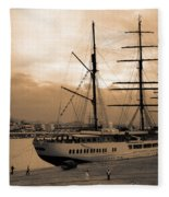 Sea Cloud II Fleece Blanket