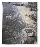 Sea Foam And Algae Fleece Blanket