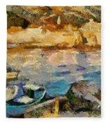 Sea Front On Mediterranean Sea Fleece Blanket