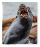 Sea Lion Agony Fleece Blanket