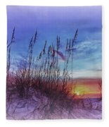 Sea Oats 5 Fleece Blanket