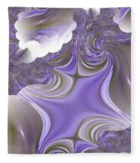Sea Of Lavender Fleece Blanket