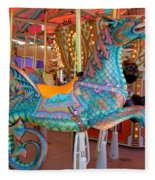 Sea Serpent Carousel Ride Fleece Blanket