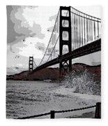 Sea Spray Under The Golden Gate Bridge Fleece Blanket