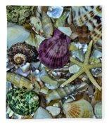 Sea Treasure - Square Format Fleece Blanket