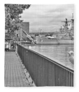 Seagull At The Naval And Military Park Fleece Blanket