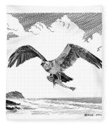 Seahawk Dinnertime Fleece Blanket