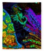 Seahorse Mosaic Fleece Blanket