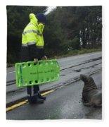 Seal Crossing Fleece Blanket