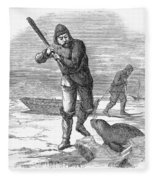 Seal Hunting, 1867 Fleece Blanket