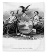 Seal Of New York, 1870 Fleece Blanket