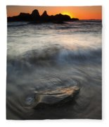 Seal Rock Sunset Fleece Blanket