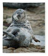 Seal Stretch Fleece Blanket